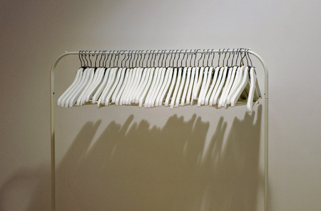 small articles: Clothing store, empty coat rack