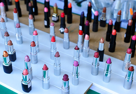 dinky: Sample of lipsticks in the shop