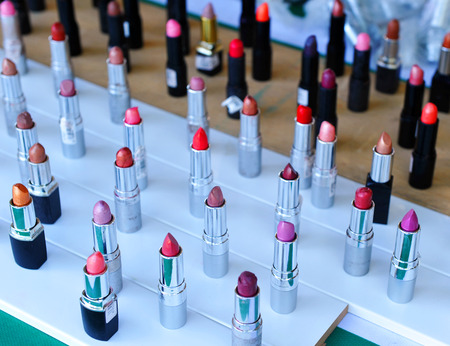 give away shop: Sample of lipsticks in the shop