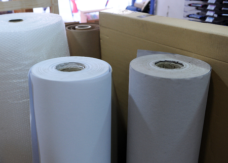 fine arts: Rolls of paper , stationery, shop of material for Fine Arts