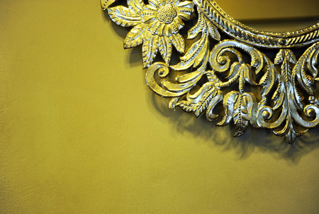 mirror frame: Decorative detail, mirror with silvery frame