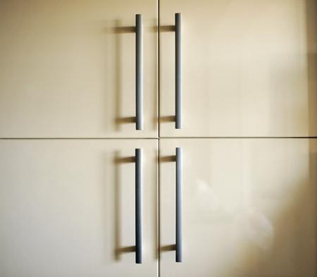 handles: Kitchen cabinet, steel handles