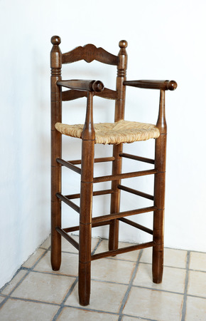 antique furniture: Antique furniture, Infant highchair