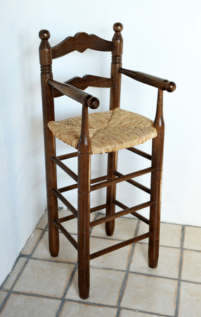 antique furniture: Infant highchair, antique furniture