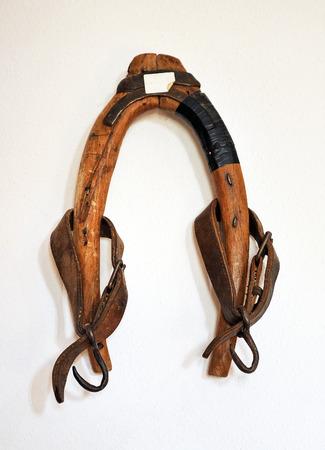 horse collar: farm implements, wooden yoke, Spain