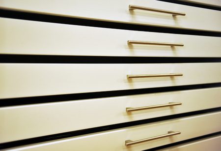 drawers: Metallic drawers, office furniture