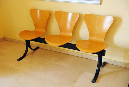 impersonal: Seats in the waiting room in an office of public administration Stock Photo