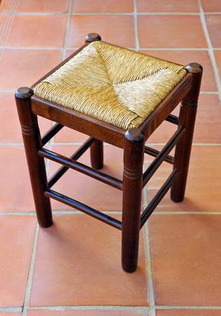 stool: Cattail stool
