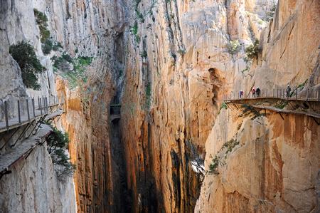 Gorge des Gaitanes, Caminito del Rey, Alora, province de Malaga, Espagne Banque d'images - 58870926
