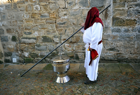 santa cena: Semana Santa de Baeza, el gran incensario, Provincia de Ja�n, Andaluc�a, Espa�a