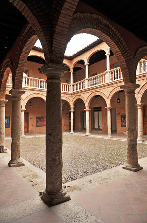 old mercury: Fugger warehouse, Cloister of the Palace of Fucares, Almagro, province of Ciudad Real, Spain