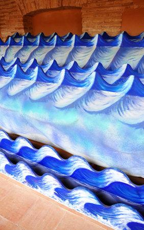 special effects: Los efectos especiales, ondas, Almagro, Claustro del Museo Nacional del Teatro, provincia de Ciudad Real, España
