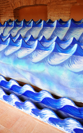 almagro: Special effects, waves, Almagro, Cloister of the National Theatre Museum, province of Ciudad Real, Spain