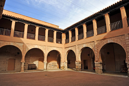 almagro: Almagro, Cloister of the National Theatre Museum, former Palace of the Grand Masters of Calatrava, province of Ciudad Real, Spain Editorial