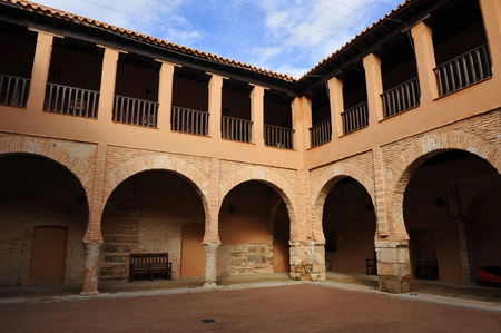 cloister: Almagro, Cloister of the National Theatre Museum, province of Ciudad Real, Spain