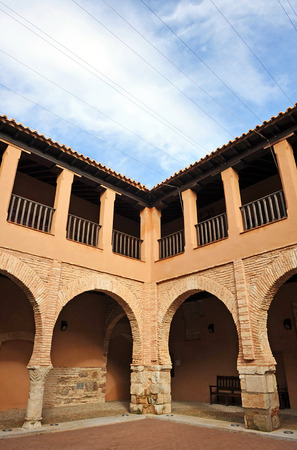almagro: Cloister of the National Theatre Museum, Almagro, province of Ciudad Real, Spain Editorial