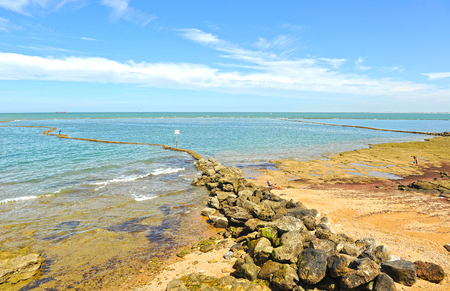 Beach in Chipiona, Cadiz province, Andalusia, Spain
