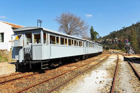 Train touristique dans les mines de Rio Tinto, la province de Huelva, Espagne