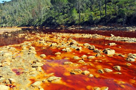 acidic: Landscape of Rio Tinto, acidic waters, Huelva province, Spain