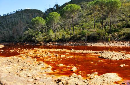 acidic: Rio Tinto, Tinto River, acidic waters, Huelva province, Spain