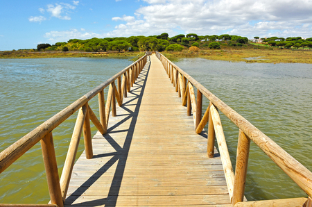 huelva: The marshes of the Piedras river, El Rompido, Huelva Province, Andalusia, Spain Stock Photo