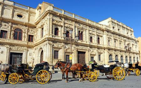 Mairie de Séville, Andalousie, Espagne Banque d'images - 60836126