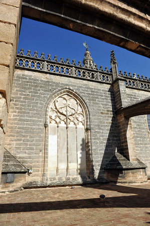 gothic architecture: Visit to the decks of the Cathedral of Seville, Gothic architecture, Andalusia, Spain