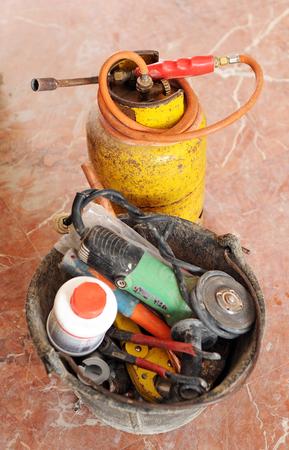 blowtorch: Gas blowtorch, plumber tools