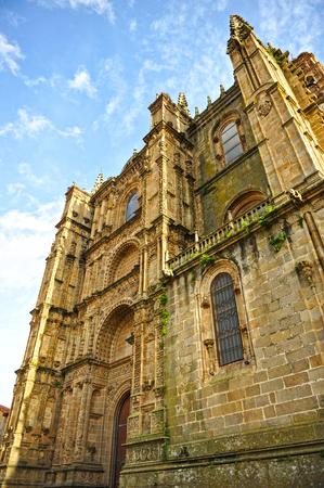 extremadura: Tourism in Plasencia, Cathedral of Santa Maria, Caceres province, Extremadura, Spain Stock Photo