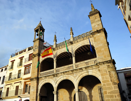 touristy: Town Hall of Plasencia, Caceres province, Extremadura, Spain Editorial