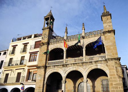City Hall in Plasencia, Abuelo Mayorga, Caceres province, Spain Editorial