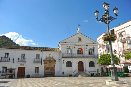 Town Hall in Ubrique, white villages, Cadiz province, Andalusia, Spain