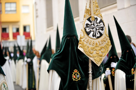 holy week in seville: The brotherhood of Hope in Triana, Holy Week in Seville, Andalusia, Spain