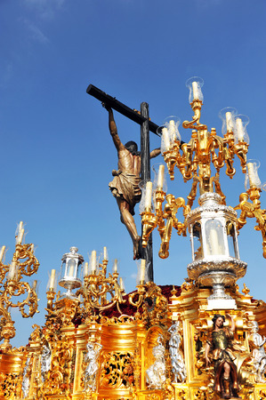 holy week in seville: Jesus Christ on the cross (El Cachorro), Holy Week in Triana, Seville,, Andalusia, Spain