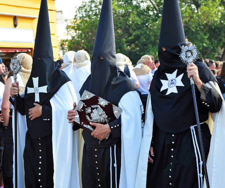 holy week in seville: Nazarenes, Holy Week in Seville, Andalusia, Spain Editorial