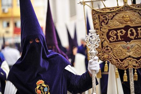 fraternidad: Nazarenos, Semana Santa de Sevilla, hermandad de la esperanza, Andalucía, España