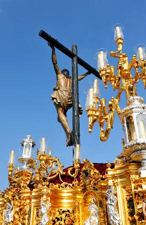 holy week in seville: Jesus Christ on the cross (El Cachorro), Holy Week in Seville, Andalusia, Spain