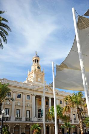 Cadiz City Hall, Plaza de San Juan de Dios, Andalusia, Spain Stock Photo