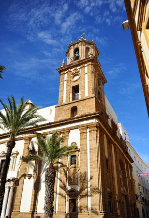 southern europe: Church of Santiago, Cadiz, luminous city of southern Europe, Andalusia, Spain