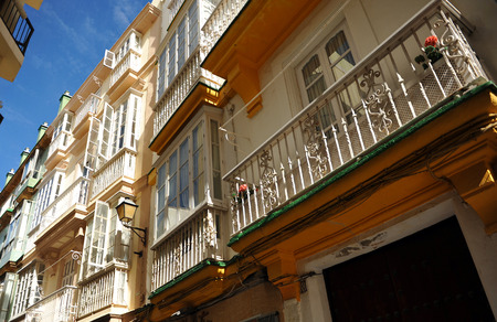 southern europe: Streets of Cadiz, luminous city of southern Europe, Andalusia, Spain Stock Photo