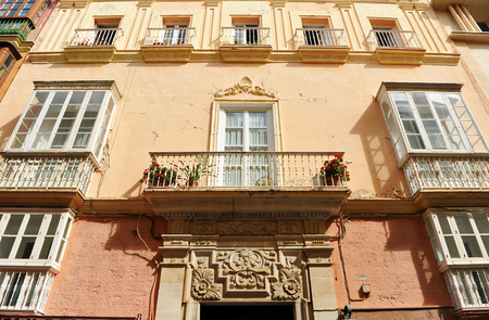 merchant: Main house of a merchant with america, Cadiz, Andalusia, Spain