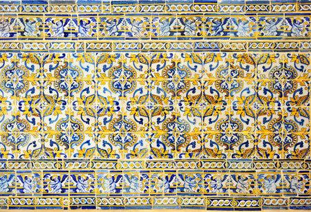 A tile panel in Evora, portuguese azulejo, Alentejo, southern Portugal