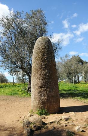 alentejo: Almond menhir, menhir dos Almendres, Alentejo, Portugal, Southern Europe