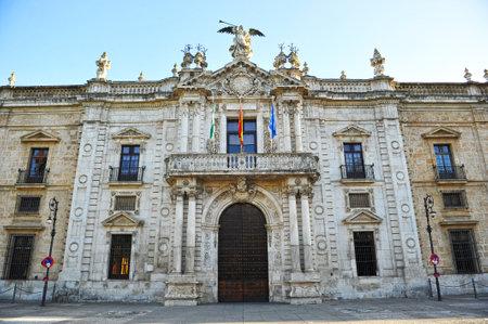 The Royal Tobacco Factory, un bâtiment du 18ème siècle baroque à Séville, Espagne, actuellement le siège du rectorat de l'Université publique de Séville Banque d'images - 62096403