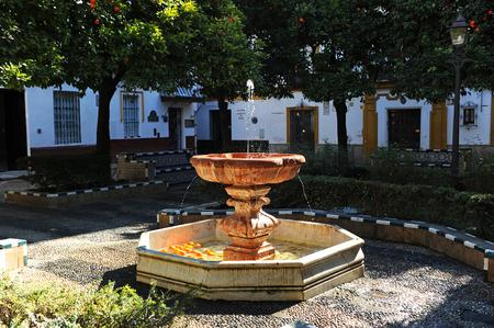Dona Elvira square (Plaza de Doña Elvira) in the neighborhood of Santa Cruz, Seville, Andalusia, Spain Stock Photo