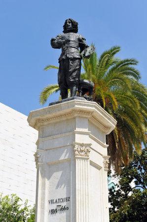 homage: Homage to Diego Velazquez, universal genius of painting, sculpture in bronze, Sevilla, Spain