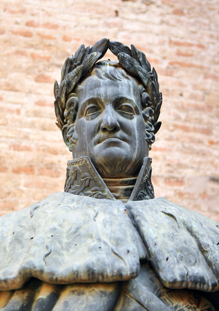 absolutism: Bronze sculpture of the King Ferdinand VII, Seville, Andalusia, Spain