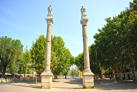 steelyard: Alameda of Hercules, Seville, Andalusia, Spain
