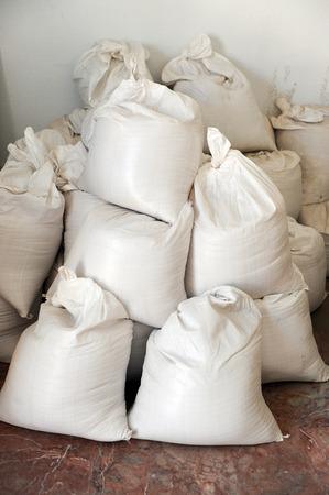 common room: Sandbags, building materials
