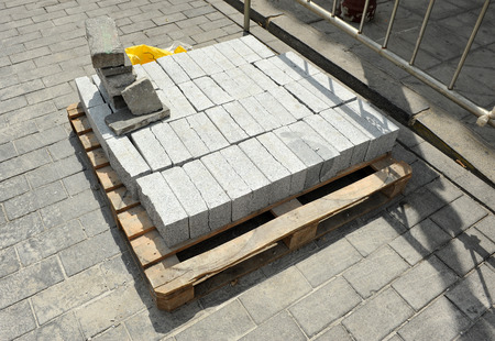 building materials: Supply of granite cobblestones for the renovation of pavement of a street, building materials
